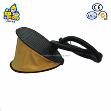 Inflatable air operated pump plastic foot mounted pump for inflator