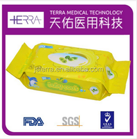 2015 OEM/ODM high quality disposable olive oil essence cleaning wet wipes/tissue for baby spunlace Non-woven wet wipes