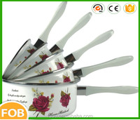 White color with printing ,Enamel Cookware/cookware sets kitchen