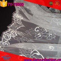 modern floral pattern netting jacquard knit nylon embroideried fabric from china