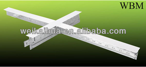 construction of metal profile/Flat T grid suspended ceiling framing t grid CROSS TEE/structural metal sections