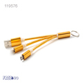 2016 Metal Head PVC 2 in 1 10cm Keychain USB Cable for iphone 7/ 7 plus