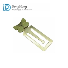 Chinese Suppliers Cheap Custom Metal Bookmarks With Gold Plating