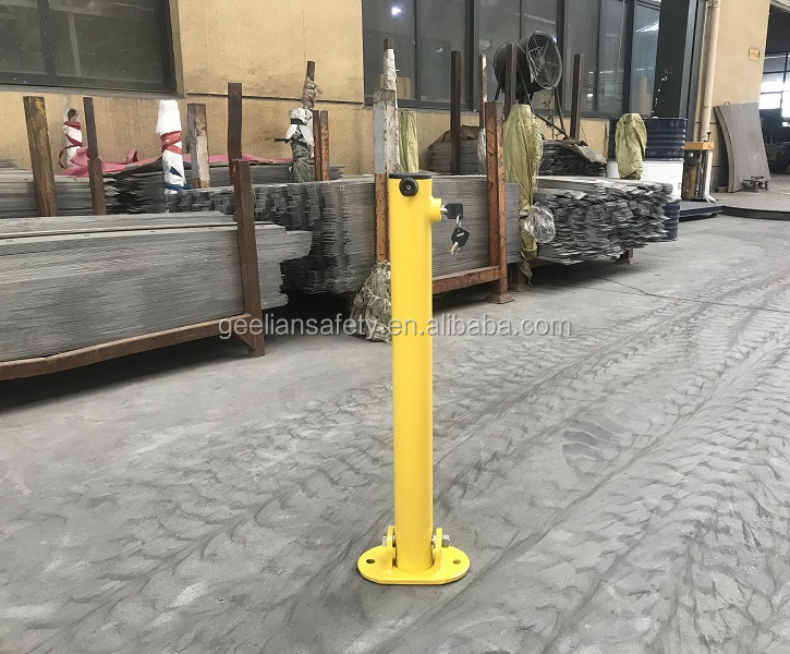 Foldable PARKING POLE Park place barrier drop down security posts park safety bollard delineator bollard parking lock