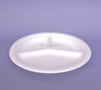 bagasse food plate 3 compartment bio degradable tray disposable tray from china