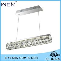 New Product Modern Hotel or Home Decor K9 Crystal Commercial LED Pendant Lighting