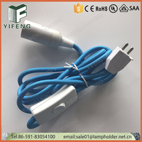 India 2pin power cord with inline switch for lamp