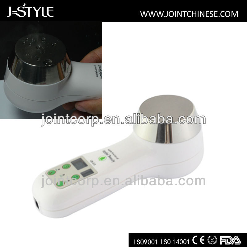J-Style Ultrasonic Big Stainless Steel Treatment Household Handheld Mini Face Lift Body Slim Machine Weight Loss Vibrator