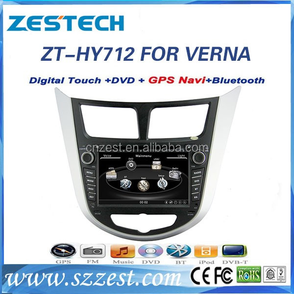 Factory price 2 din car stereo for Hyundai VERNA/Accent touch screen car stereo gps player with gps sat navi car radio