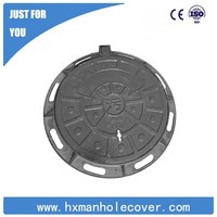 D400 Ductile iron anti theft triangle cast iron manhole cover
