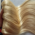 Grade 6a blonde color vietnam hair machine double wefted hair extenion wholesale price human hair