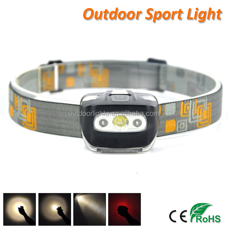 AAA Head Lamp Red + White Light 4 Mode 300 Lumen CREE XPE LED Mini Headlamp
