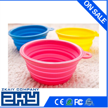 New Portable and Unbreakable Collapsible Silicone Dog Bowl Portable Collapsible Silicone Pet Bowl Dog Cat Travel Feeding bowl