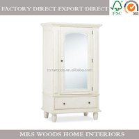 french vintage wooden bedroom wardrobe sliding mirror doors