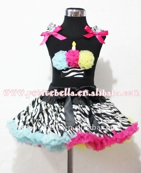 Zebra Rainbow Print Pettiskirt With Rainbow Rosettes Zebra Birthday Cake Black Tank Top