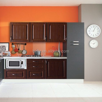 Modern design variety colors PVC door kitchen cabinet