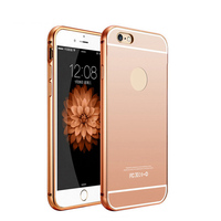 2016 Luxury Aluminum Mirror Cover For Iphone 6S /6s plus /se 7s 6G 5.5inch mirror back cover for gionee f103 mobile phone case