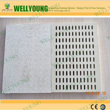 Perforated Acoustic Gypsum Ceiling Panel Composite Fiberglass Ceiling Board