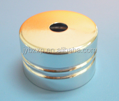 gold screw aluminum trim cap,aluminum candle cap,aluminum cap with cut hole cap