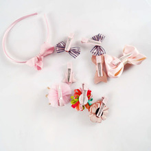 new fashion different designs flower crown hair bows with clip for girl hair jewelry SET-601-123