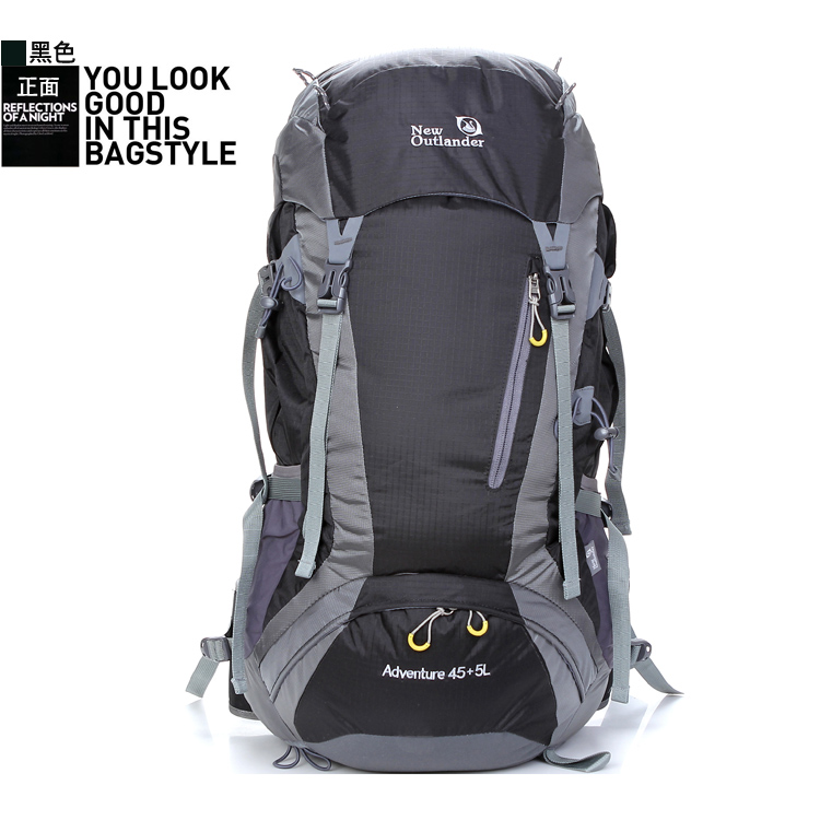 50L fashion waterproof unisex outdoor sports leisure travel hiking <strong>backpack</strong>