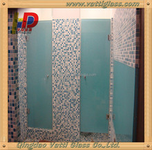 Beautiful frosted glass bathroom door, frosted glass show door,frosted glass sanua door