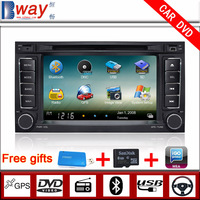 Bway In Dash 2 din Car video for VW TOUAREG 2002-2010 VW MULTIVAN CAR DVD with GPS Navigation car Radio Bluetooth steering wheel