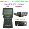 Popular Handheld 4.3 Inch Satellite Finder Meter with AHD CCTV Camera Testing Function