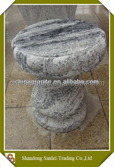 natural white grey marble stone stool for garden