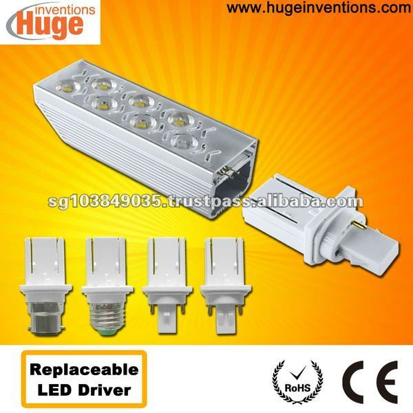G24 6w led lamp 110lm/W Edison LED with replaceable led driver