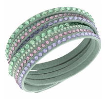 Wholesale Swarovski element bracelet Slake Light Green Deluxe Leather Bracelet