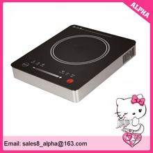 2500 watts all metal induction wok cooker with big ceramic plate