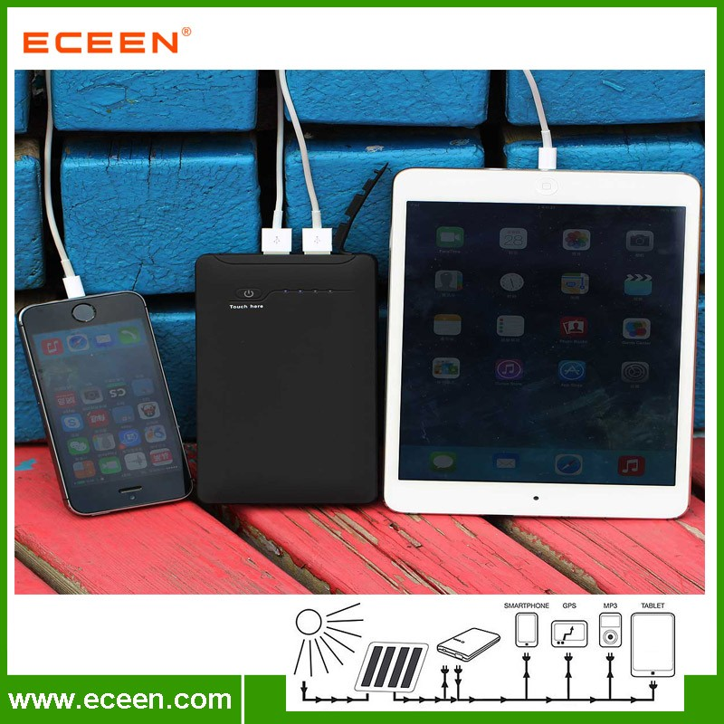 Portable 10000mah waterproof 2 USB power bank for mobile phone
