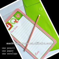creative christmas stationery sets,pencil, writing paper,envelope