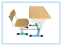 Modern school desk set Single student desks and chairs