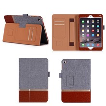 Portable Official Dual Colors Leather Case with Stand for iPad Mini 4