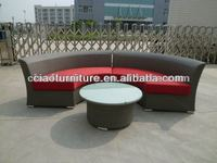 fashon patio semi-circle sofa