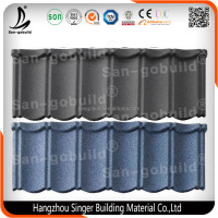 15 colors Bond Type Tiles Stone Coated Metal Roof Tile, Roofing Materials Price