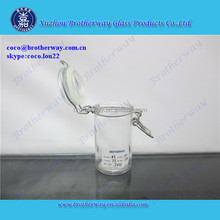 50ml cylinder clear glass jar with sealed glass lid and wire