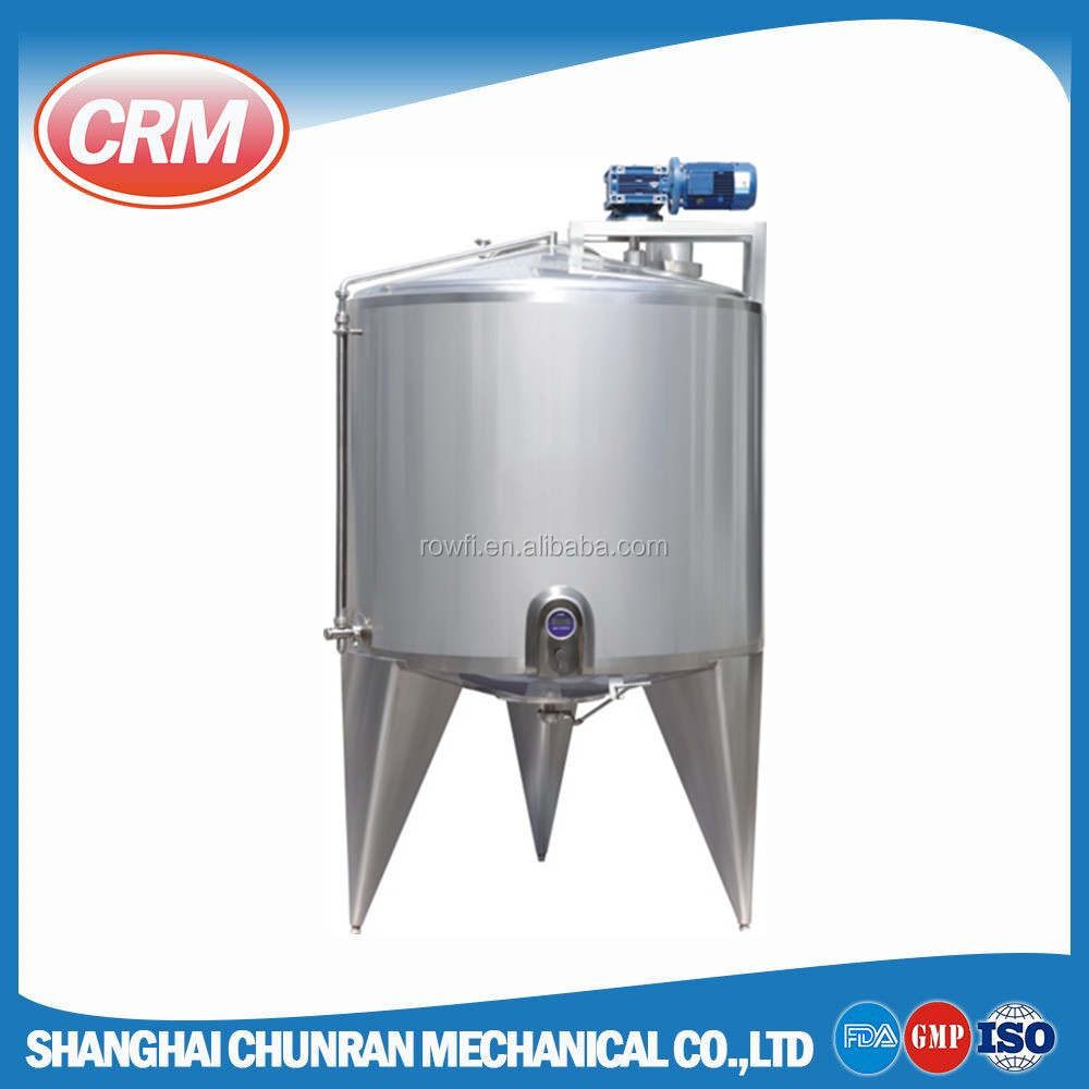 ISO manufacturer offering mixing tank with various types of agitator