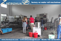 ZH2000 CE certificated wafer stick confectionery making machine