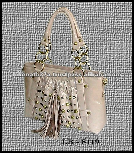 LEATHER HANDBAGS. GENUINE LEATHER STUDDED BAGS