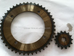 Motorcycle KAWASAKI KLX-150 428-44T-14T 428H-122L Sprocket and chain with good quality