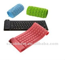 Bluetooth silicone roll-up flexible computer keyboard
