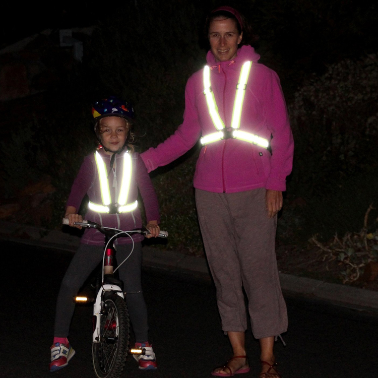 cheap safety fluorescent yellow reflective straps vest for bicycle