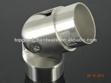 stainless steel handrail fitting / adjustable tube connector