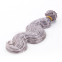 body wave unprocessed indian hair weaving 6a unproessed brazilian body wave hair artificial grey human hair weaving