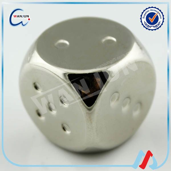 Promotional metal fuzzy dice wholesale