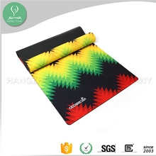 Made in Hangzhou China yoga mat manufacturer 1730*610mm*3mm 100% natural rubber yoga mat and carrier