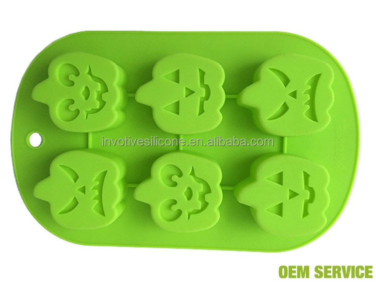 Halloween baking tools silicone pumpkin design cake mould